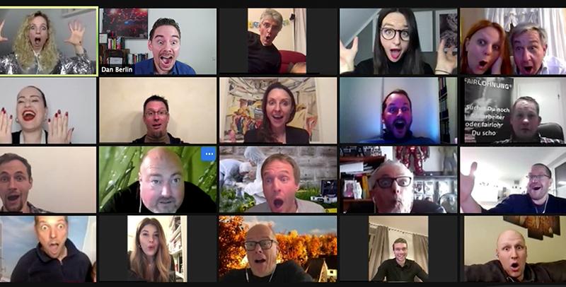 Online Weihnachtsfeier - Zuschauerreaktionen im Stream